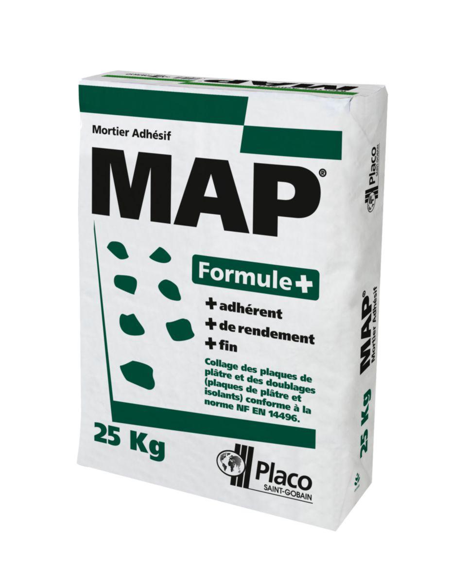 Mortier Colle MAP Formule+   Sac De 25 Kg   PLACO   Plâtre   Isolation    ITE   Distributeur De Matériaux De Construction   Point.P