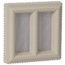 Grille a�ration claustra PVC sable Nicoll - 120x120 mm