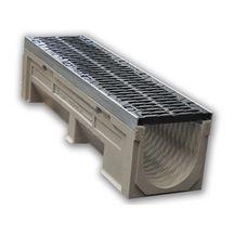 caniveau b ton polym re f200k00r 1m avec 2 grilles fonte fnx200ftdm 0m50 classe d400 mont e. Black Bedroom Furniture Sets. Home Design Ideas