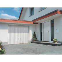 Porte garage basculante d bordante europro 132 nervures for Porte de garage tubauto point p