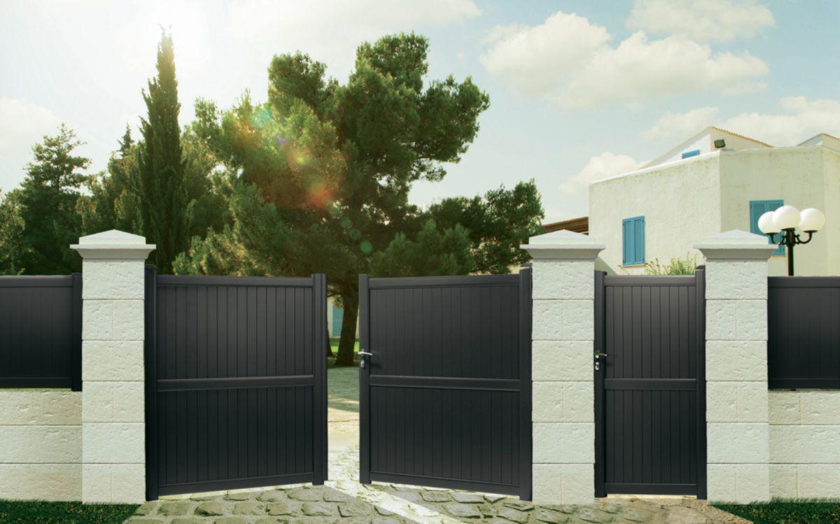 vial portail coulissant cheap poser portail en aluminium coulissant a with vial portail. Black Bedroom Furniture Sets. Home Design Ideas