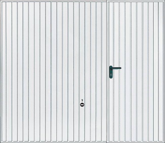 Porte De Garage Basculante à Portillon Droit Motif Blanc H - Porte de garage basculante avec portillon