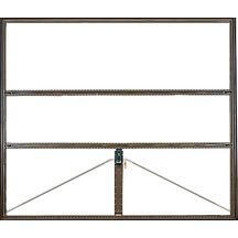 Porte garage basculante d bordante 320 cadre nu marron for Porte de garage tubauto point p