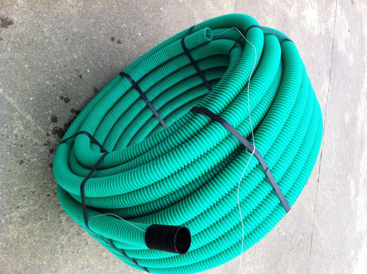 od plast gaine tpc annel lisse vert diam tre 40 rouleau de 50m point p. Black Bedroom Furniture Sets. Home Design Ideas