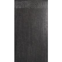 fa ence murale d cor teorema th o noir 25x46 cm iris d coration int rieure. Black Bedroom Furniture Sets. Home Design Ideas