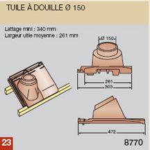 Tuile douille pour vauban 2 terre cuite nuag 375x366 mm 150 mm koramic toiture for Koramic tuiles prix