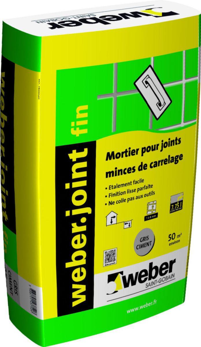 weber mortier pour joint mince de carrelage. Black Bedroom Furniture Sets. Home Design Ideas