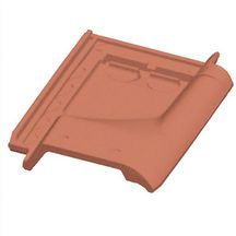 Tuile de ventilation Artoise - terre cuite - rouge - section 30 cm²