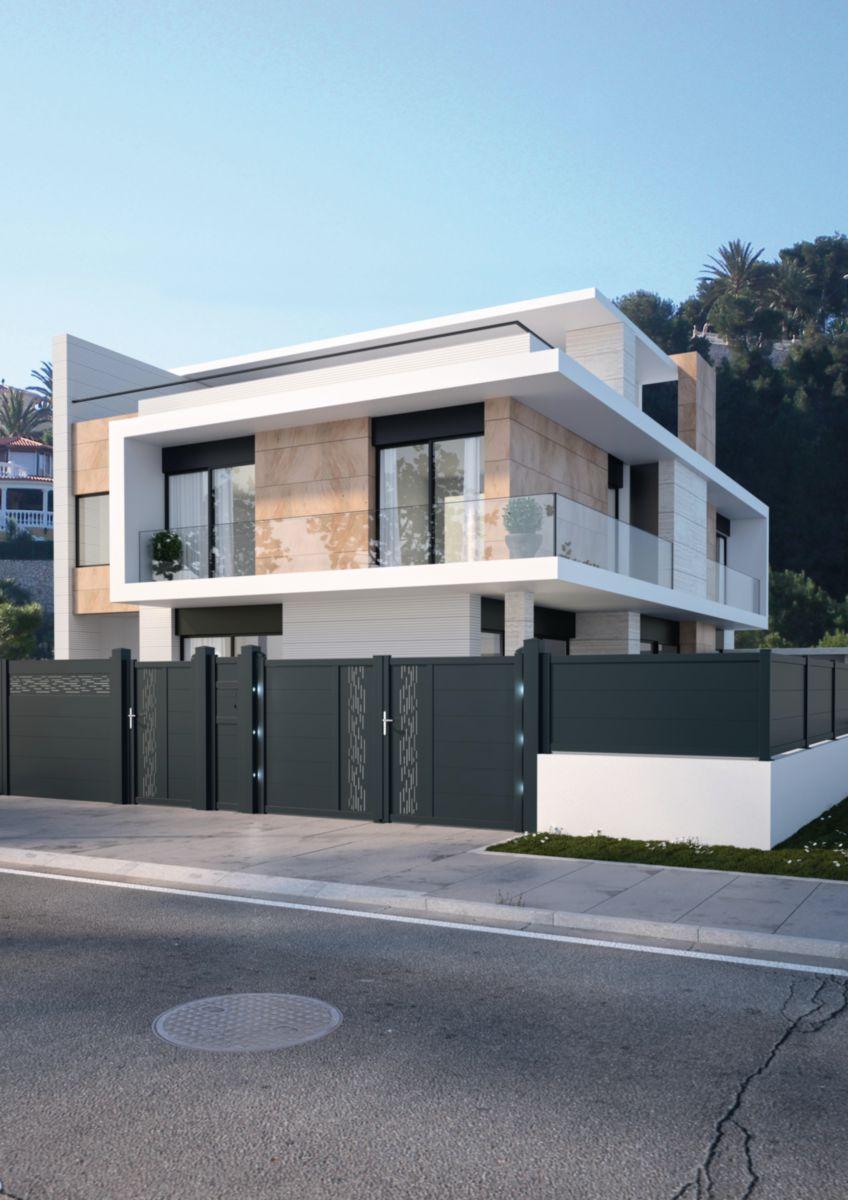 jardimat portail aquaevo battant gris 7016 3 50 m aquae. Black Bedroom Furniture Sets. Home Design Ideas