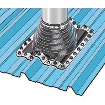 Sortie de toit ronde pipeco n 4 pour tuyau 75 125 mm - Tuyau de poele leroy merlin ...