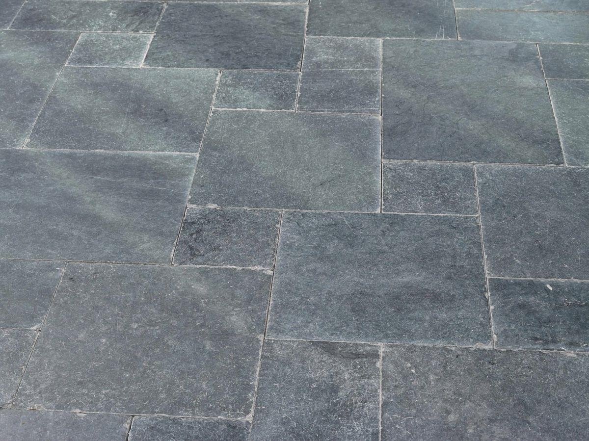 MARSHALLS NV - Dalle sol extérieur calcaire Pierre Bleue Rustique - bleu adouci vieilli - 4 ...