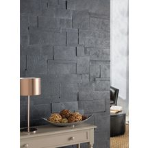 parement mural pierre reconstitu e clat gris m tal multiformat p 0 5 2 cm pierra. Black Bedroom Furniture Sets. Home Design Ideas