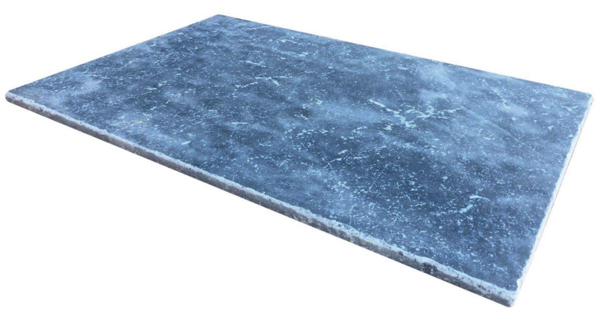 Creastone Dalle De Sol Blue Stone Marbre Gris Bleute 40 6x61x1 2 Cm Point P