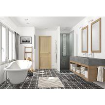 Bloc-porte Jade chêne - huisserie 90 mm - poussant gauche - 204x73 ... ebc45005f23