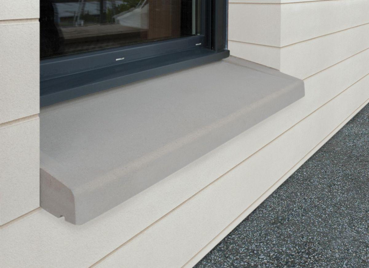Weser Appui Fenêtre à Pose Simplifiée Ap Ps 35 Gris 130x35 Cm