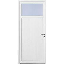 Porte de service PVC blanc 9016 Riviera dormant de 60 seuil aluminium de 20  avec panneau f58a796a672