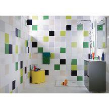 carrelage mural fa ence arte one archicolor blanc brillant 20x20 cm arte one d coration. Black Bedroom Furniture Sets. Home Design Ideas