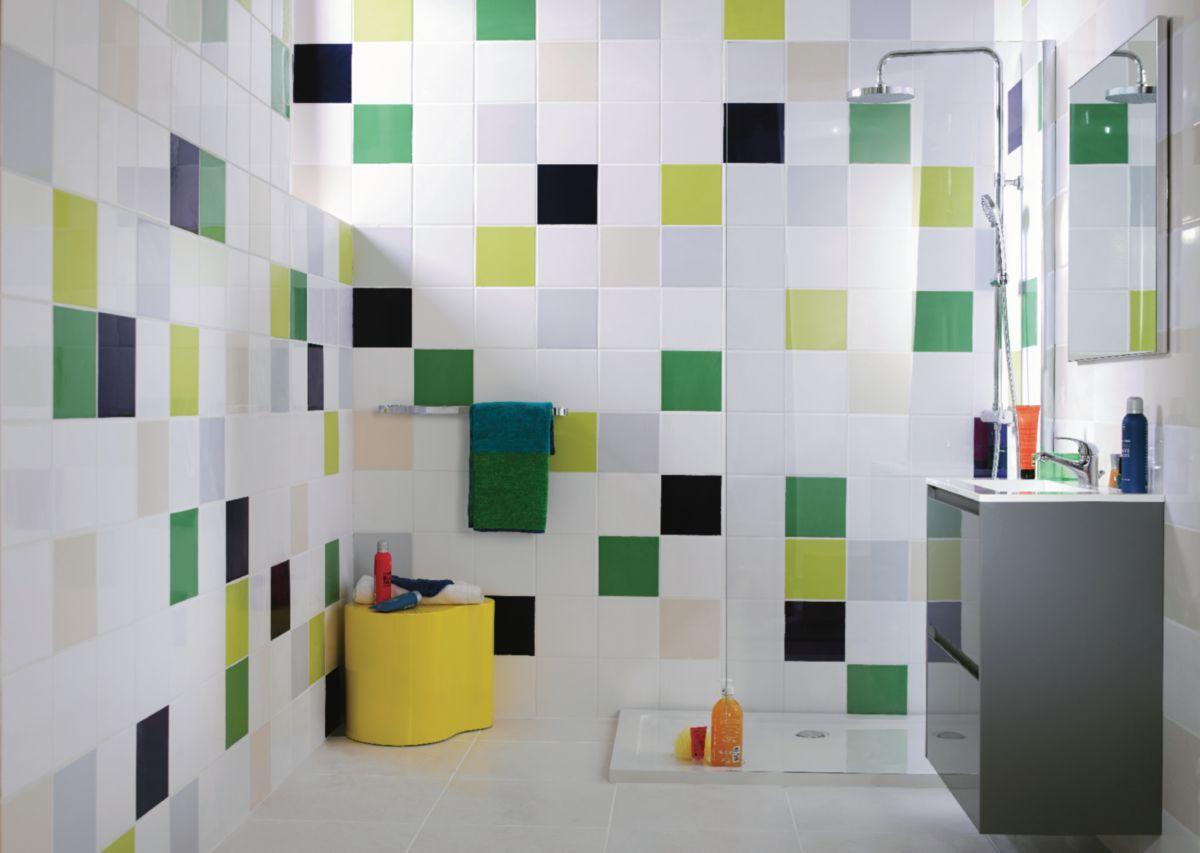 Carrelage mural intérieur faïence Archicolor - blanc brillant - 19,8x19,8 cm