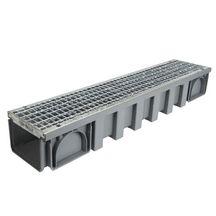 caniveau sous circulation pvc 1 grille caillebotis b125 kenadrain hd noir nicoll 1 m largeur. Black Bedroom Furniture Sets. Home Design Ideas