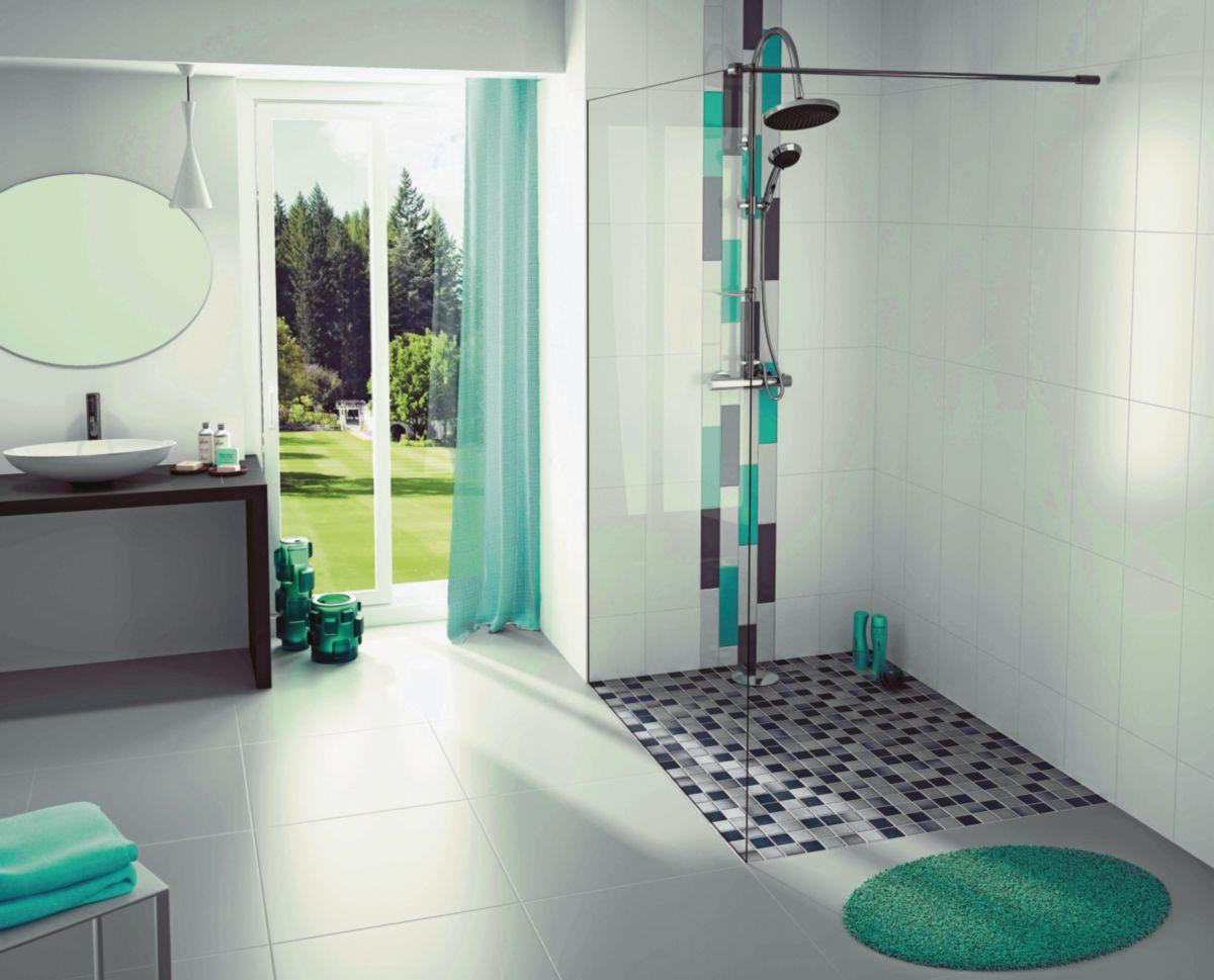 simple latest mosaque pour receveur grs crame maill grip mix gris x with faience salle de bain. Black Bedroom Furniture Sets. Home Design Ideas