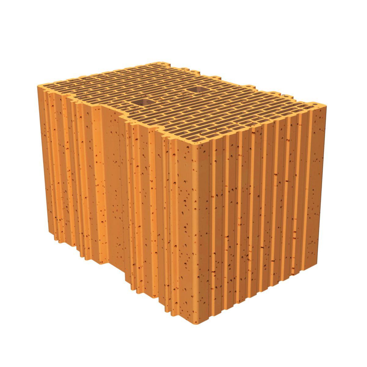 porotherm brique terre cuite roul e isolante monomur r37. Black Bedroom Furniture Sets. Home Design Ideas
