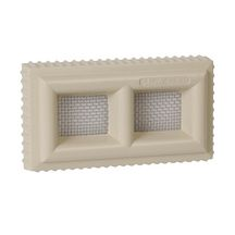 Claustra PVC rectangulaire sable Nicoll - 110x60 mm ép. 20 mm
