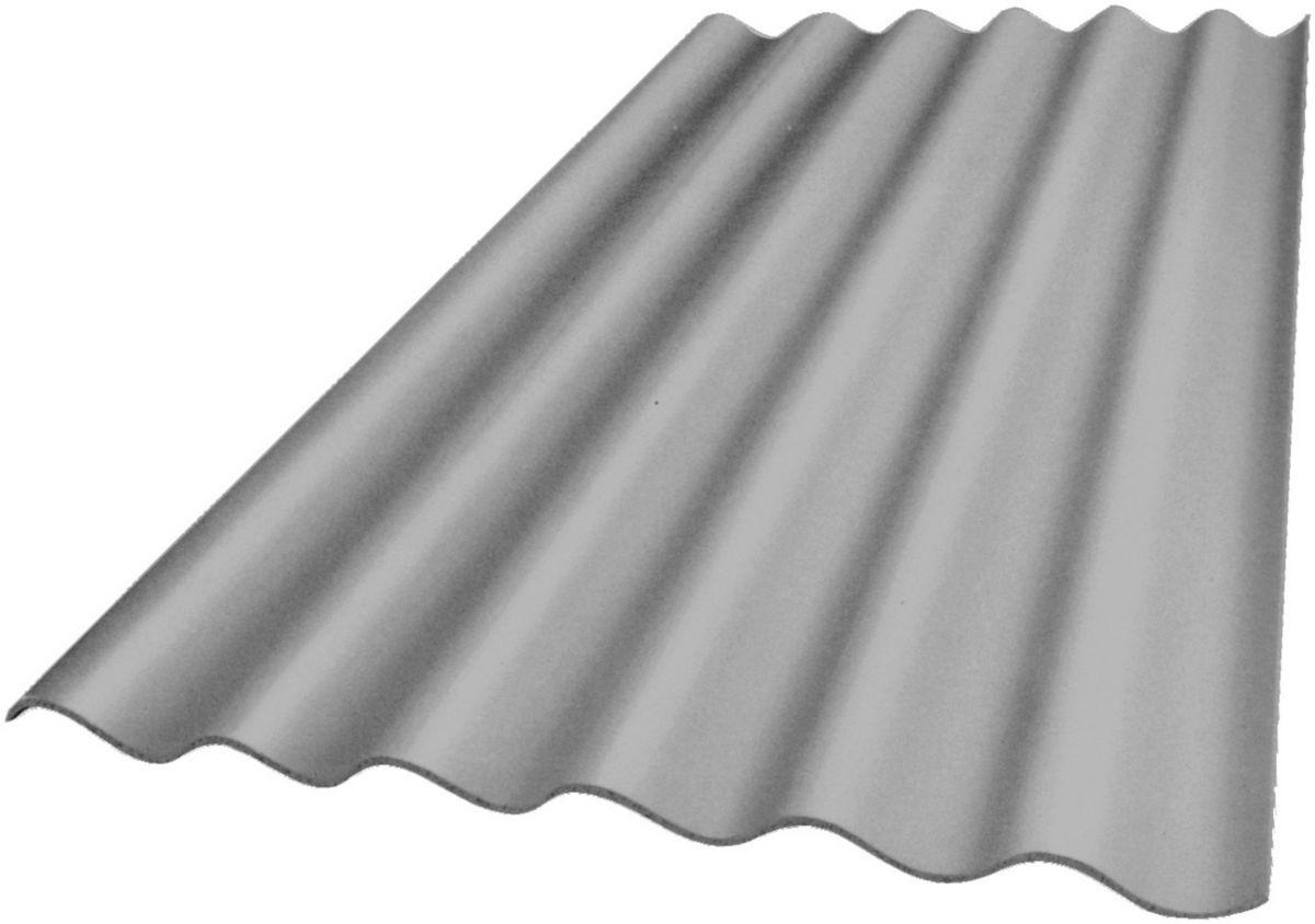 Edil Fibro Plaque Ondulee Fibres Ciment 6 Ondes Plakfort 6 Teinte Naturelle 1 25x1 095 M Point P