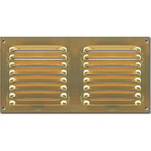 Grille d 39 a ration rectangulaire r glable laiton massif - Grille aeration reglable rectangulaire ...