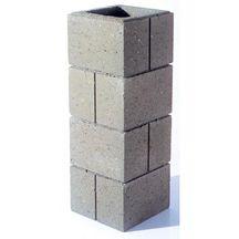 pilier enduire evene gris 40x40x19 cm bip terrasses. Black Bedroom Furniture Sets. Home Design Ideas