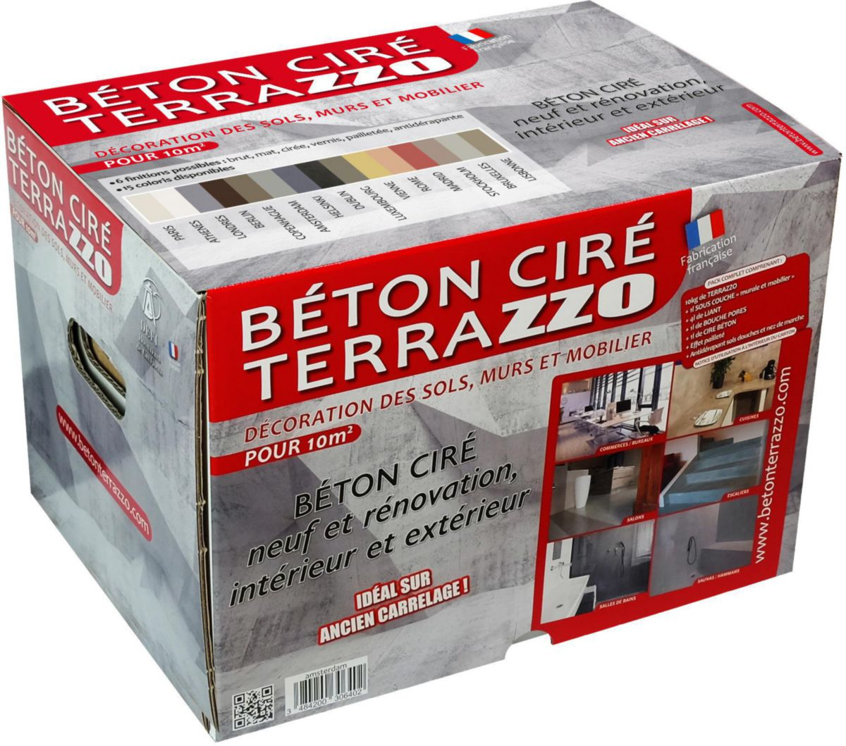 Extraordinaire Kit de béton ciré Terrazzo - teinte Paris - HOUILLERES DE &YX_53