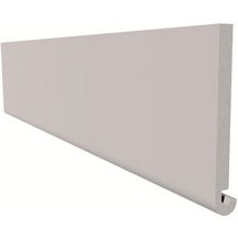 Planche de rive arrondi PVC duo blanc Freefoam - 5000x175x15 mm