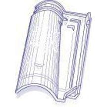 tuile de verre abeille n 56 genre romane m ridionale 32 5x48 5 cm verrerie la rochere. Black Bedroom Furniture Sets. Home Design Ideas