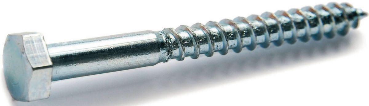 Tirefond M/étal Aerzetix Vis /à Bois T/ête Hexagonale 6 pans M8x70mm Lot de 50 Bricolage en Acier-Zingu/é C44585 DIN571