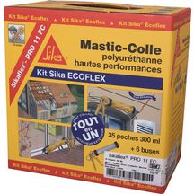 Colle mastic sikaflex pro 11fc gris carton de 35 recharges ecoflex sika outillage - Nettoyer mastic colle sika ...