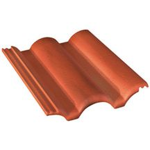 Tuile b ton plein ciel monier rouge sienne 420x330 mm monier toiture charpente for Distributeur tuiles monier