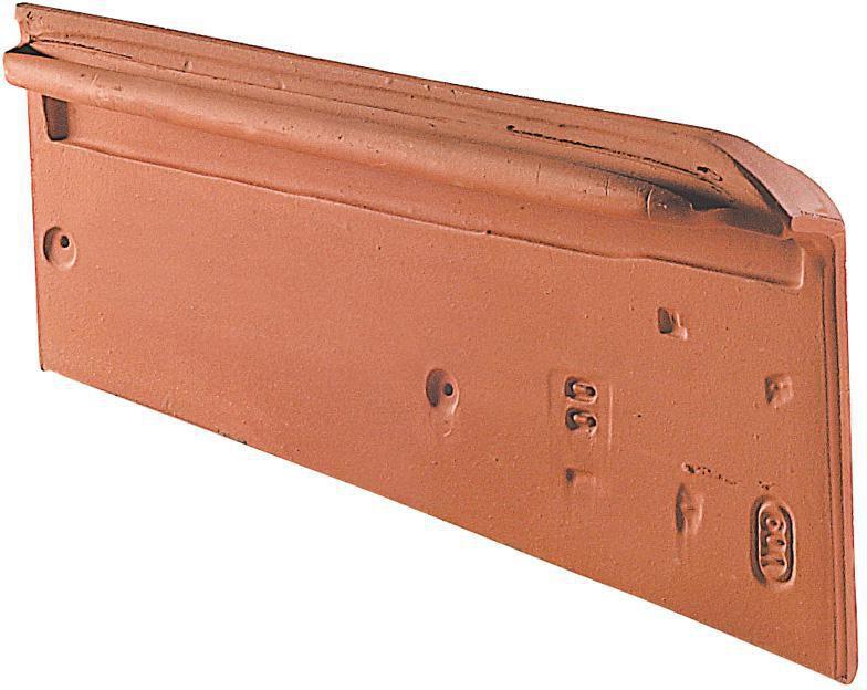 tuile de rive individuelle droite à emboîtement pour imerys
