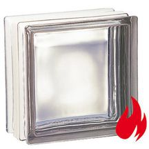 Brique verre TF 30 Coupe feu 1/2 h transparente incolore La Roch�re - 19x19x10 cm