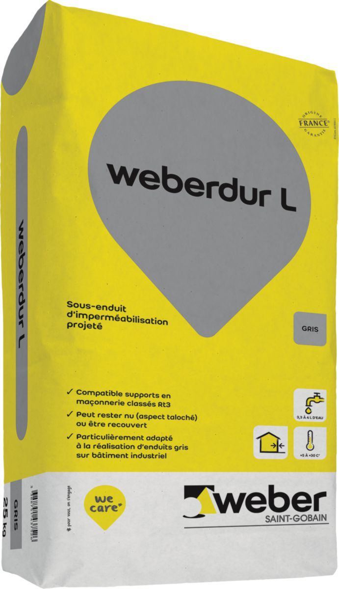 weber sous enduit monocouche d 39 imperm abilisation. Black Bedroom Furniture Sets. Home Design Ideas