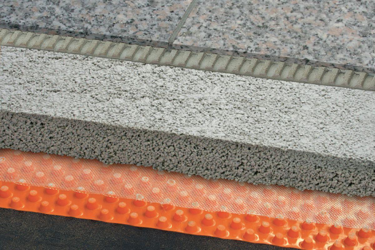 Drainage Balcons Terrasses Schluter Troba Plus 8 Rouleau De 1x12 5 M Ep 8 Mm