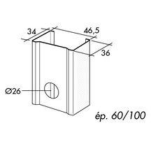 montant m48 l 4 m ailes de 34x36 mm spp pl tre isolation ite distributeur de. Black Bedroom Furniture Sets. Home Design Ideas