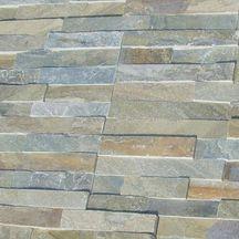 Parement mural pierre naturelle quartzite gris beige plaquette 15x60 cm - Pierre de parement exterieur point p ...