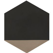 Carreau de ciment CIMI45 - motif hexagone moderne - anthracite/pointe gris clair - 23x20 cm - ép. 1,6 cm