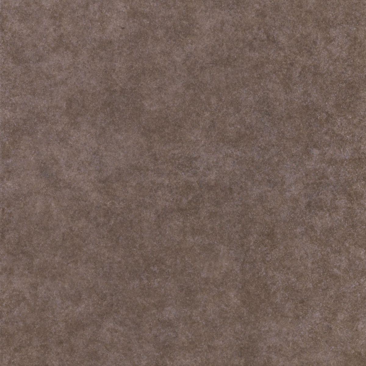 PORTOCERAM - Plinthe carrelage sol intérieur grès cérame émaillé London - marron mat - 7,5x41 cm ...