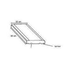 chapeau de pilier classique b ton 50x50x5 cm heinrich bock d coration ext rieure. Black Bedroom Furniture Sets. Home Design Ideas