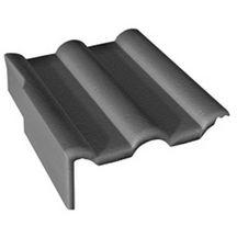 tuile de rive universelle gauche double romane dy026 b ton min ral noir 420x332x145 mm. Black Bedroom Furniture Sets. Home Design Ideas