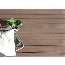 lame de terrasse bois composite co extrud e iris brun lisse 26x161 mm l 3 0 m oceplast. Black Bedroom Furniture Sets. Home Design Ideas