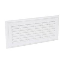 Grille a�ration rectangulaire d�montable blanc Nicoll - 129x274 mm
