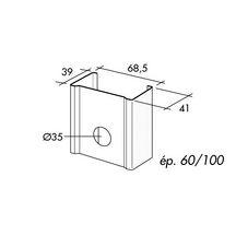 montant m70 aile de 39 41 l 4 00 m spp pl tre isolation ite distributeur de mat riaux. Black Bedroom Furniture Sets. Home Design Ideas