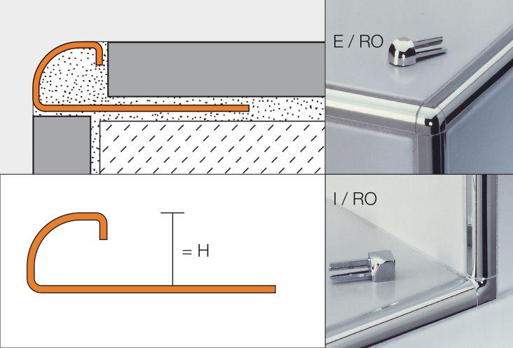 Schluter Systems Profile D Angle Sortant Schluter Rondec E Acier Inox L 2 50 M Ep 6 Mm Point P