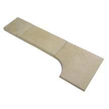 Angle sortant Calcara In'stone ivoire 52x52x3,5 cm